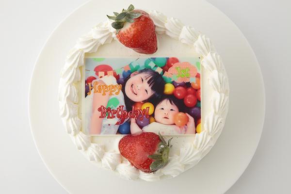 写真プレート付きデコレーション8号サイズ 誕生日ケーキ バースデーケーキ ホールケーキ ショートケーキ お取り寄せ 誕生日 バースデー お菓子工房アントレ