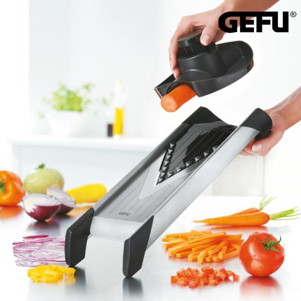 GEFU 3種類ブレード付 マルチカッター VIOLINO | ゲフ 調理器具 取替可能 ブレード付 カッター ベジタブル フルーツ カット