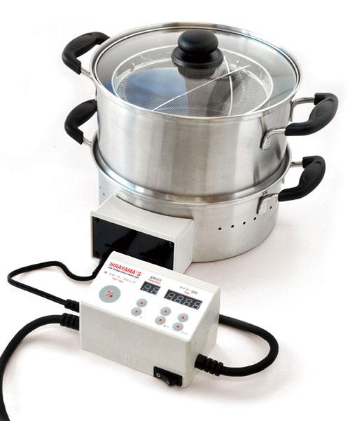 平山式 低温スチーム電気鍋 26cm 低温調理 低温蒸し 低温スチーミング 70℃蒸し 50℃洗い 蒸し器 低温スチーム ヘルシー 健康志向