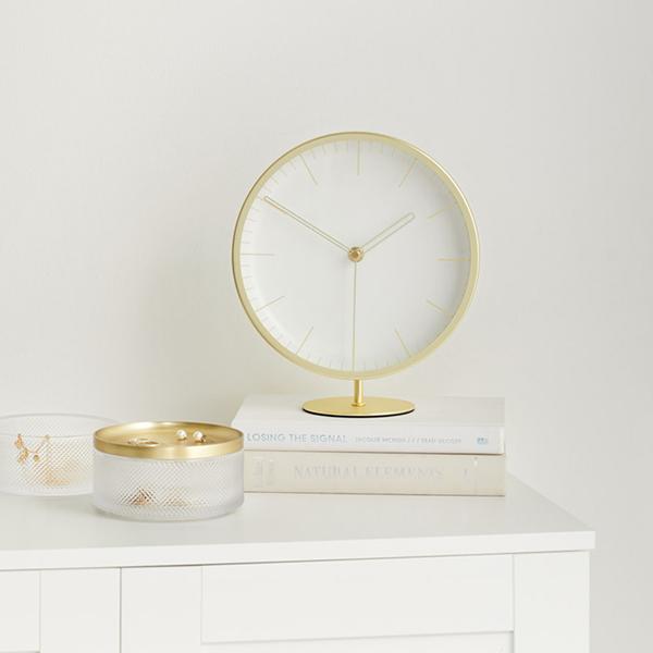 時計 インフィニティ 日本メーカー新品 クロック ゴールド インテリア ギフト プレゼント 贈り物 セール 韓国風インテリア おしゃれ 置き時計 シンプル umbra アンブラ 掛け時計