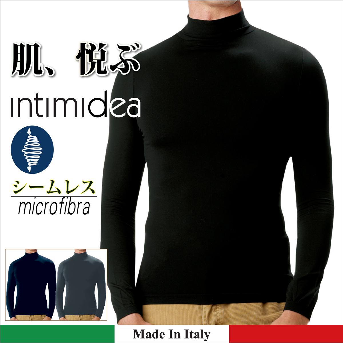ノルマン メンズ INTIMIDEA Men's イタリア製 国内即発送 メンズインナーウェア 直輸入 Men'sbasicman ハイネック長袖 激安卸販売新品 インティミディア ウオモ 差がつくインナー イタリアンテイスト 快適なフィット感