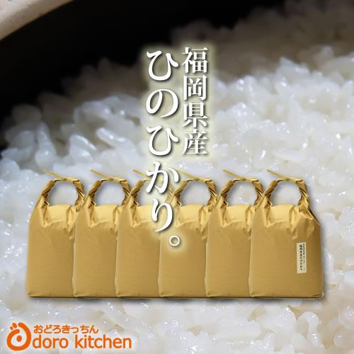 米 ひのひかり 【一等米】九州産 ヒノヒカリ 30kg[5kg×6] 30年産 新米【送料無料】出荷日精米 玄米 から 分つき米 白米まで[k]