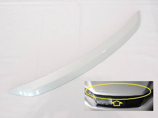 TOYOTA トヨタ純正60系ハリアー GRスポーツ用ボンネットフードフロントモール後期型に流用可能070:ホワイトパール