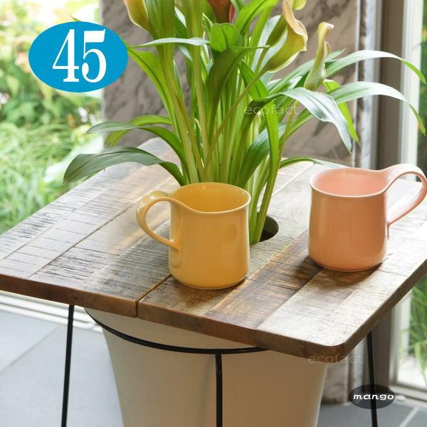 植木鉢に乗せるだけで気分はカフェ 天然木の暖かみ 木ならではの触り心地 プレゼント リビングに馴染む木目 素材感 激安 激安特価 送料無料 プランターテーブルプランツテーブル φ45cm スクエア 天板のみ マンゴー 無垢材 Hang 観葉植物 Out簡易テーブル 木製 ティーテーブル ナチュラルウッド アジアン 古民家カフェ リビング おしゃれ 天然木 カフェテーブル