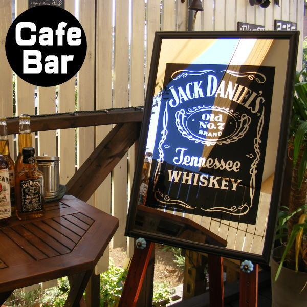 パブミラー バーミラー 鏡 壁掛け ジャックダニエル ロゴ (Jack Daniel's アイリッシュバー カフェ 風 おしゃれ ビール お酒 看板)