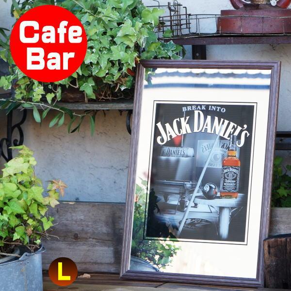 パブミラー バーミラー 鏡 壁掛け ジャックダニエル ビリヤード(Jack Daniel's アイリッシュバー カフェ 風 おしゃれ 男前 大人の インテリア 雑貨  ビール お酒  看板 ワイン バー用品 カクテルグッズ)
