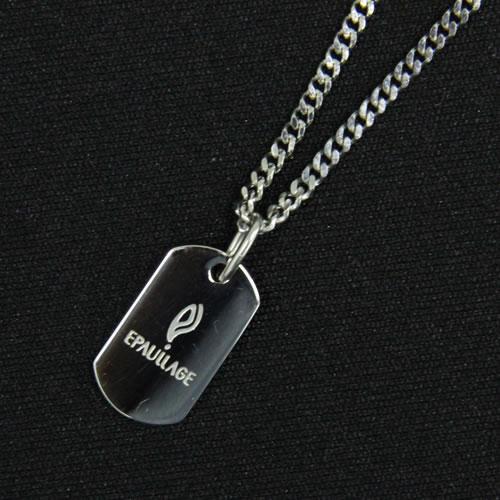 MEN'Sエポラージュ®磁気ネックレス チェーンタイプ プレート 男性用 シルバー epm-002