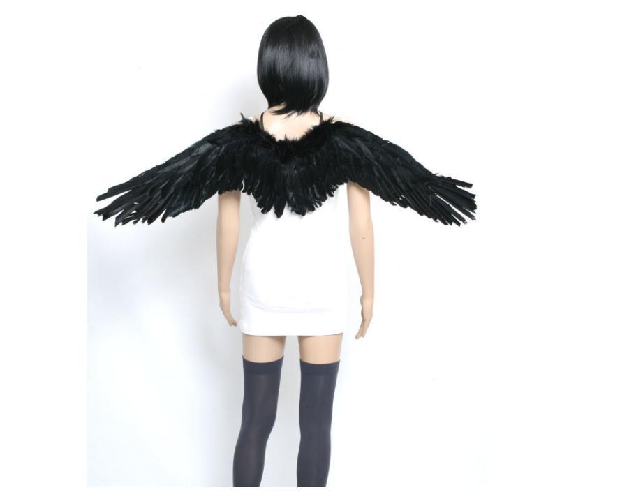 羽根 コスプレ ハロウィン 衣装 天使の羽 てんし エンジェル デビル 悪魔 人気ブランド あくま ウィング 仮装 パーティー ダンスにも ハロウィーン コスチューム 翼 ブラック お得セット ホワイト 悪魔の羽