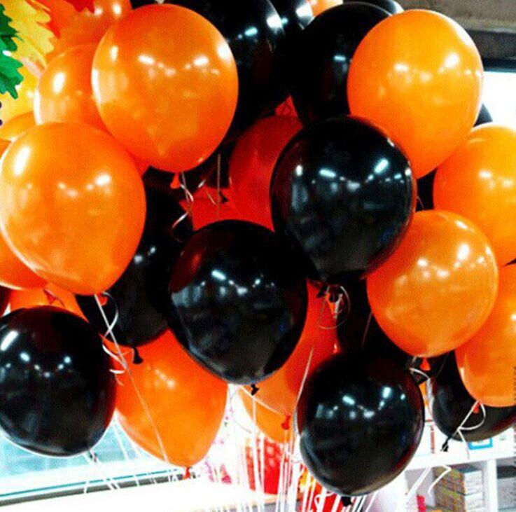 バルーン セット ヘリウムガス対応 飾りつけ 演出で盛大にお祝いしよう イベント 市販 パーティーに似合う風船です ハロウィン 風船 空気入れセット パンプキン 本店 お誕生日会 ブラック ふうせん 100個 パーティー用品 ゴム風船