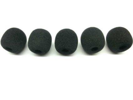 ヘッドセットやバイクインカムのマイクカバー 交換用 マイクスポンジ 本日の目玉 5個セット マイク風防 一般的な インカム 装着可能 最高のコスパ S ピンマイク 送料無料 激安 お買い得 キ゛フト インストラクター絶賛 汎用品