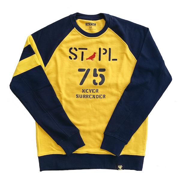 ステイプル STAPLE トレーナー クルーネックスウェット ラグラン カレッジ ストリート STREET ストリート NY アメリカブランド