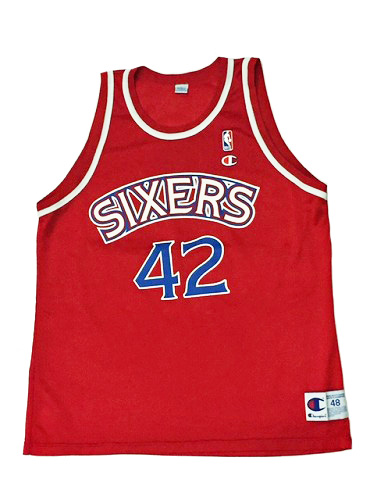 【CHAMPION】NBA SIXERS CHEANEY BASKETBALL JERSEY [RED:XL(48)] / チャンピオン シクサーズ バスケットジャージー