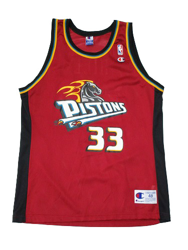 【CHAMPION】NBA PISTONS HILL BASKETBALL JERSEY [MAROON:XL(48)] / チャンピオン ピストンズ バスケット ジャージー