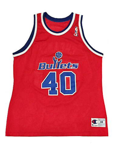 CHAMPION】NBA BULLETS (WIZARDS) CHEANEY BASKETBALL JERSEY [RED:XL(48)] / チャンピオン ブレッツ (ウィザーズ) バスケットボール ジャージー