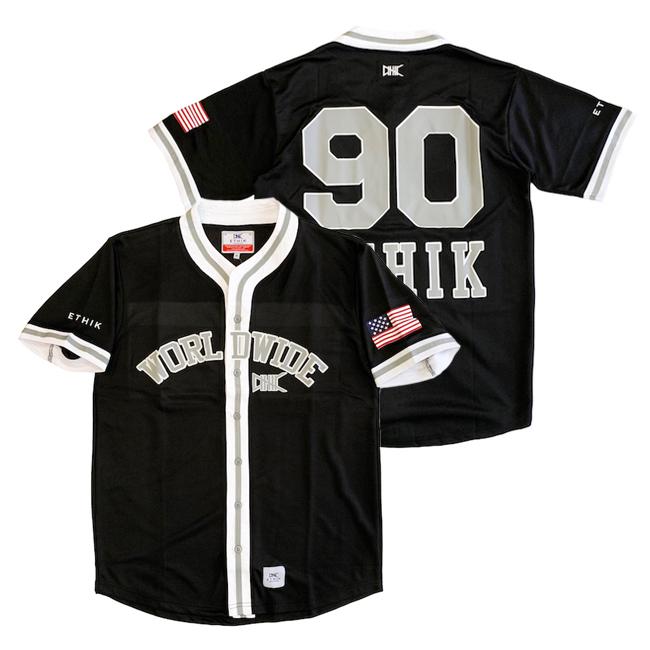 エティック ETHIK ベースボールシャツ ベースボールジャージー BASEBALL SHIRT STREET ストリート アメリカブランド レターパックプラス可