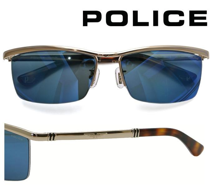 【送料無料】 2020年モデル POLICE サングラス SPLA62J 300B ゴールド レンズ:グレー/ブルーミラー