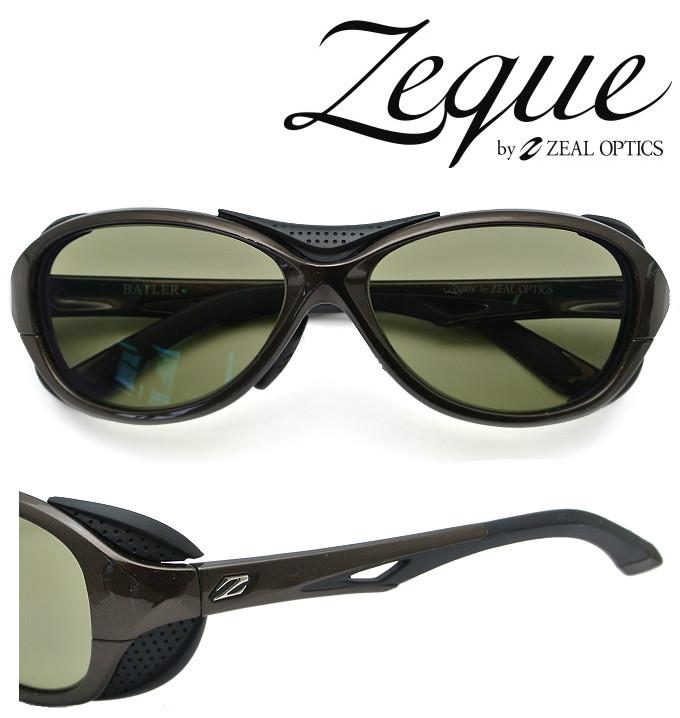 Zeque by ZEAL OPTICS ゼクー バイ ジールオプティクス サングラス BATLER (ジール バトラー)F-1723 ブラウン&ブラック 偏光レンズ TALEX (タレックス) トゥルービュースポーツ 【送料無料】