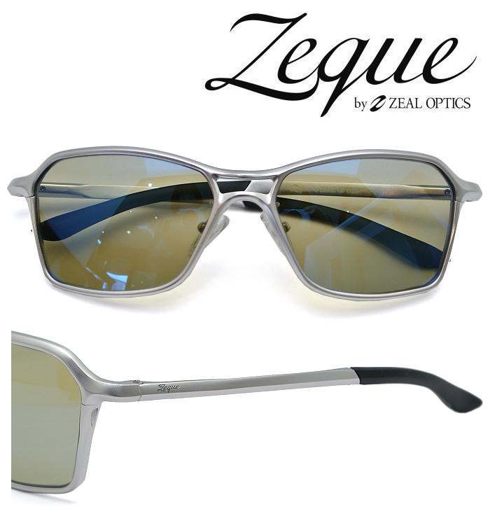 Zeque by ZEAL OPTICS ゼクー バイ ジールオプティクス サングラス Vega(ヴェガ)F-1820 シルバー 偏光レンズ TALEX (タレックス) トゥルービュースポーツ/ブルーミラー 【送料無料】