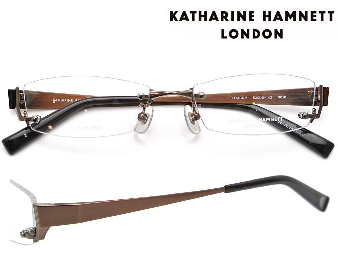 KATHARINE HAMNETT LONDON (キャサリンハムネットロンドン) メガネフレーム 53サイズ KH-9018 2 ブラウン/ATブラウン 【送料無料】