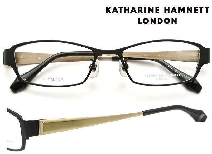KATHARINE HAMNETT LONDON (キャサリンハムネットロンドン) メガネフレーム 53サイズ KH-9114 4 ブラックマット/シャーリングゴールド 【送料無料】