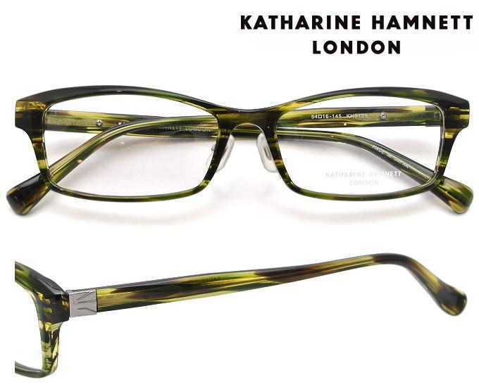 KATHARINE HAMNETT LONDON (キャサリンハムネットロンドン) メガネフレーム 54サイズ KH-9125 4 カーキササ(グレー) 【送料無料】