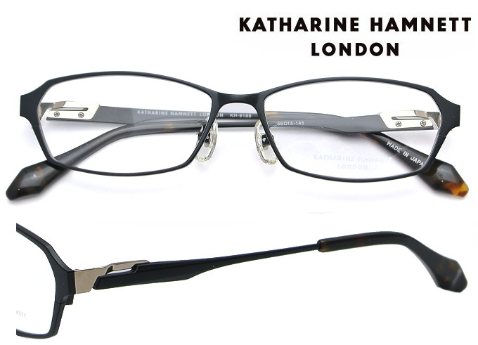 KATHARINE HAMNETT LONDON (キャサリンハムネットロンドン) メガネフレーム 56サイズ KH-9169 4 ブラックマット/ブラックマット(ライトゴールド)【送料無料】