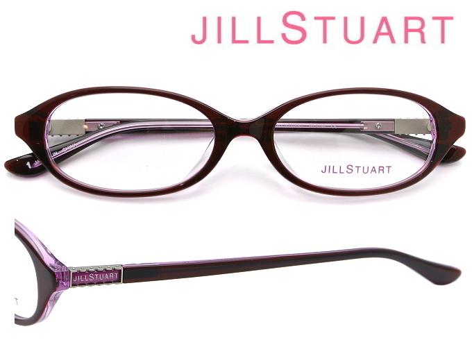 JILL STUART (ジルスチュアート) メガネフレーム 52サイズ 05-0796 01 ワイン・クリアワイン