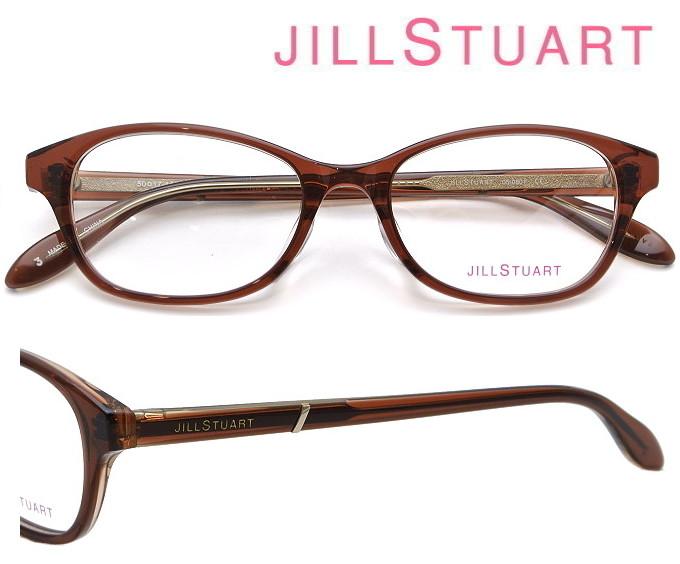JILL STUART (ジルスチュアート) メガネフレーム 50サイズ 05-0801 03 ブラウン・クリアブラウン