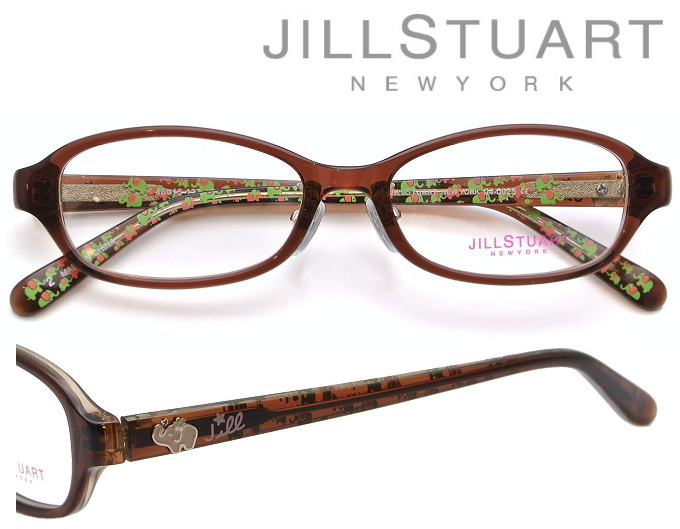 JILL STUART NEWYORK (ジルスチュアート ニューヨーク) メガネフレーム 46サイズ 04-0025 02 ブラウン・クリアブラウン 【キッズ 子供用】