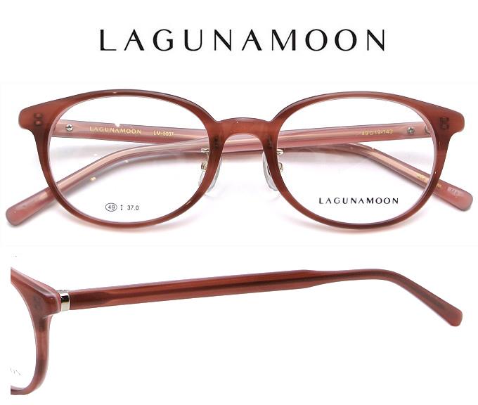 LAGUNAMOON(ラグナムーン) 鼻パット付き メガネフレーム LM-5037 3 49サイズ ピンクブラウンササバイピンク