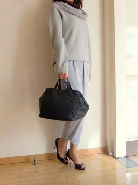 les basiques rebajikku Box型皮革手提包Black女士
