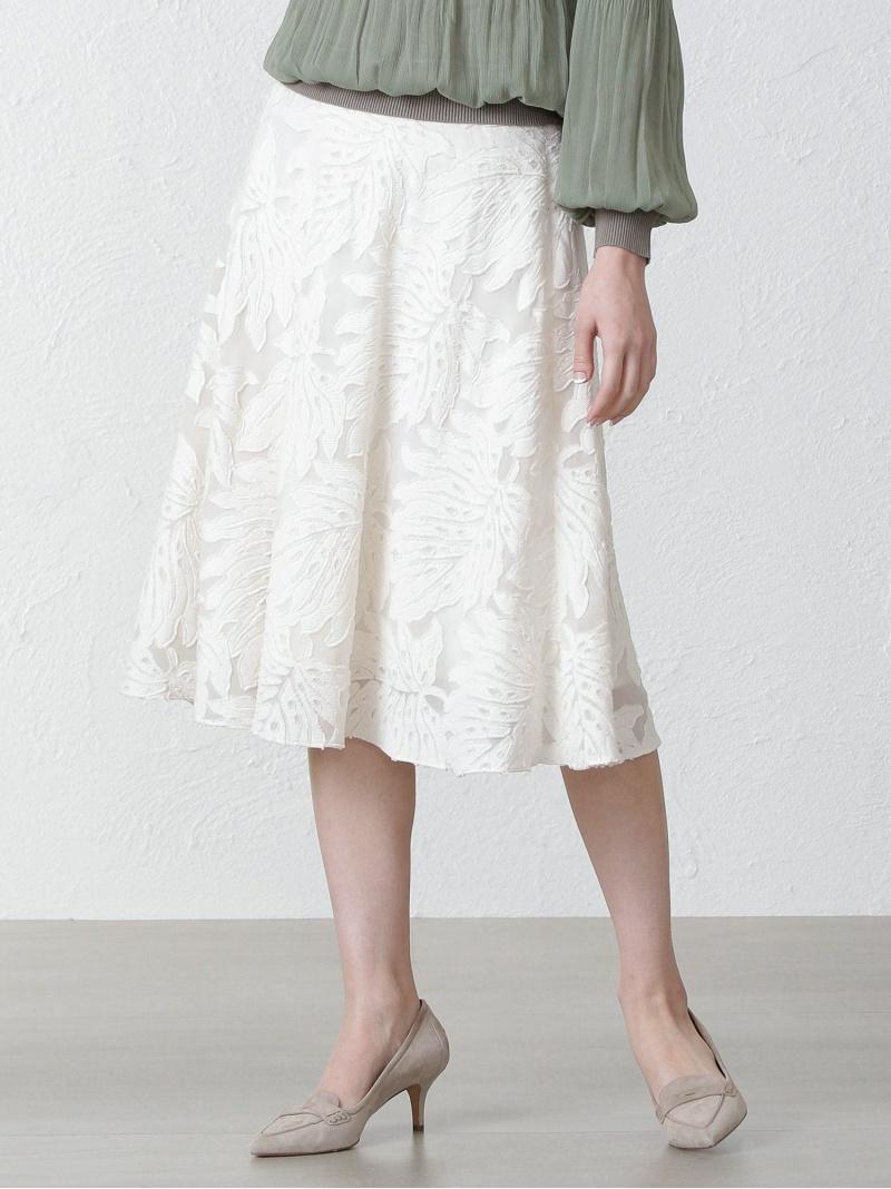 お気にいる EPOCA THE SHOP レディース スカート エポカ 定番スタイル ザ ショップ リーフジャカードスカート ロングスカート ホワイト グリーン 送料無料 ネイビー Rakuten Fashion