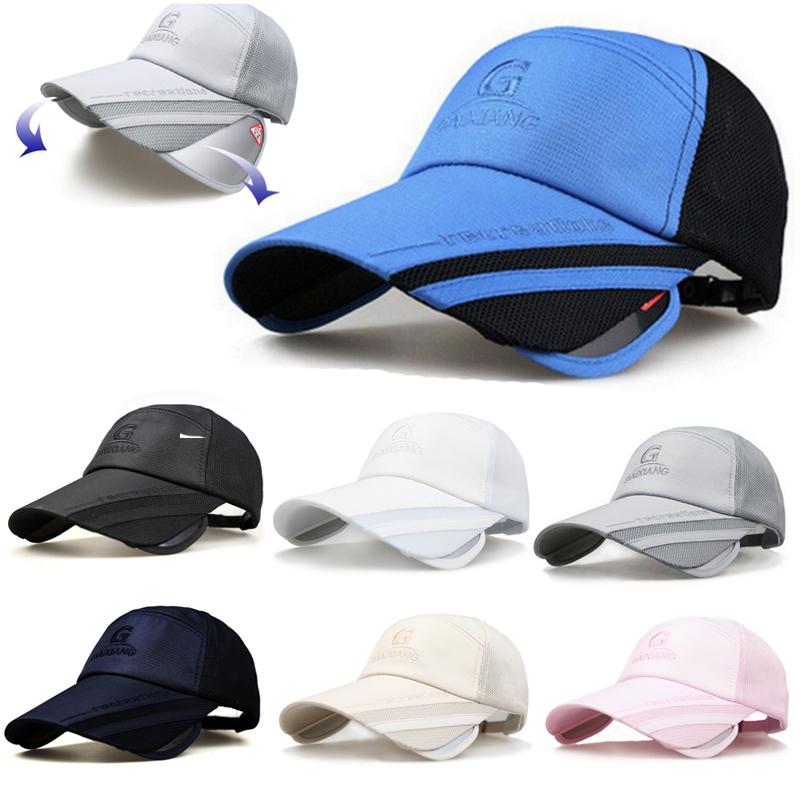 ポリエステル素材の速乾キャップ 2WAY サンガード付き DAIXIANG スポーツキャップ メッシュ 日よけ アウトドア メッシュ ランニングキャップ深め 帽子