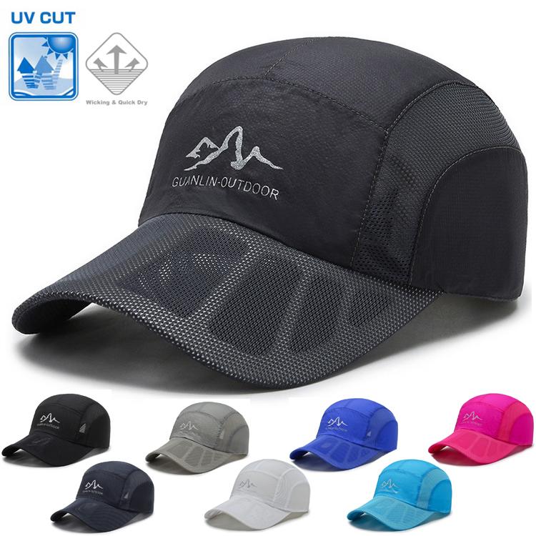 ポリエステル素材の速乾キャップ CUTOUT ランニング メッシュ 日よけ ランニングキャップ深め スポーツキャップ 帽子 今だけ限定15%OFFクーポン発行中 豊富な品 レディース 速乾 通気性 メンズ 軽量