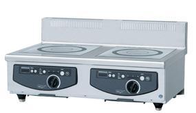 ホシザキ・星崎電磁調理器型式:HIH-55CE-1(旧HIH-55CE)寸法:幅900mm 奥行600mm 高さ280mm送料:無料 (メーカーより)直送保証:メーカー保証付2口 5.0kw × 2
