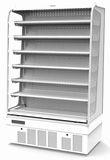 サンデン多段オープンショーケース(飲料用)型式:RSG-900M寸法:幅900mm 奥行520mm 高さ1452mm送料:無料 (メーカーより)直送保証:メーカー保証付