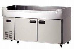 ダイワ・大和舟形シンク付冷蔵庫型式:5461CDSF寸法:幅1500mm 奥行600mm 高さ850mm送料:無料 (メーカーより)直送保証:メーカー保証付