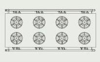 タニコーガステーブル(アルファーシリーズ)型式:NT2480BW寸法:幅2400mm 奥行900mm 高さ800mm送料:無料 (メーカーより)直送保証:メーカー保証付受注生産品、納期約2週間