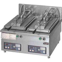 マルゼン電気自動餃子焼器(フタ固定)型式:MAZE-44寸法:幅600mm 奥行600mm 高さ285mm バックガード150mm送料:無料 (メーカーより)直送保証:メーカー保証付