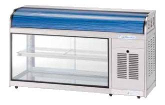オオホ・大穂冷蔵ショーケース(卓上タイプ)型式:OHL-Fa-1200L(R)寸法:幅1200mm 奥行400mm 高さ665mm送料:無料 (メーカーより)直送保証:メーカー保証付