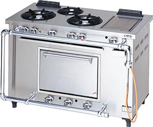 マルゼンデラックスタイプガスレンジ(トップ排気・ホットプレート付)型式:MGRD-126TD(旧MGRD-126T)寸法:幅1200mm 奥行600mm 高さ800mm送料:無料 (メーカーより)直送保証:メーカー保証付