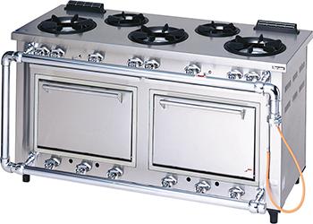 マルゼンデラックスタイプガスレンジ(トップ排気)型式:MGRD-156D寸法:幅1500mm 奥行600mm 高さ800mm送料:無料 (メーカーより)直送保証:メーカー保証付
