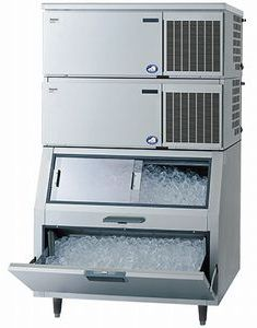 パナソニック(旧サンヨー)キューブアイス製氷機《スタックオンタイプ》型式:SIM-S481NB-FB3寸法:幅1087mm 奥行862mm 高さ1840mm送料:無料 (メーカーより直送)保証:メーカー保証付日産製氷能力480kg