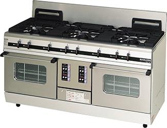 マルゼンパワークックガスレンジ(コンベクションオーブン搭載)型式:MGRX-156E(旧MGRX-156D)寸法:幅1500mm 奥行600mm 高さ800mm バック200mm送料:無料 (メーカーより)直送保証:メーカー保証付