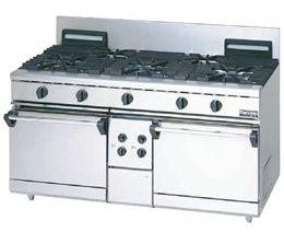 マルゼンNEWパワークックガスレンジ(自然対流オーブン搭載)型式:RGR-1575D(旧RGR-1575C)寸法:幅1500mm 奥行750mm 高さ800mm バック200mm送料:無料 (メーカーより)直送保証:メーカー保証付