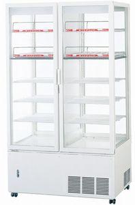 パナソニック(旧サンヨー)冷蔵四面ガラスショーケース型式:SSR-561CHNA(旧SSR-561CHN)寸法:幅1030mm 奥行535+(46)mm 高さ1780mm送料:無料 (メーカーより)直送保証:メーカー保証付