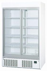 パナソニック(旧サンヨー)冷蔵スライド大扉ショーケース型式:SRM-RV419B(旧SRM-RV419A)寸法:幅1200mm 奥行650mm 高さ1900mm送料:無料 (メーカーより)直送保証:メーカー保証付