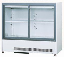 サンデン冷蔵小型ショーケース型式:MU-184XE寸法:幅1200mm 奥行550mm 高さ1085mm送料:無料 (メーカーより)直送保証:メーカー保証付メーカー在庫限り