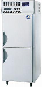 パナソニック(旧サンヨー)タテ型急速凍結庫型式:BF-F120A寸法:幅745mm 奥行800mm 高さ1880mm送料:無料 (メーカーより)直送保証:メーカー保証付在庫僅少