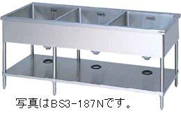 マルゼン三槽シンク(バックガードなし)型式:BS3-134N寸法:幅1300m 奥行450mm 高さ800mm送料:無料 (メーカーより)直送保証:メーカー保証付